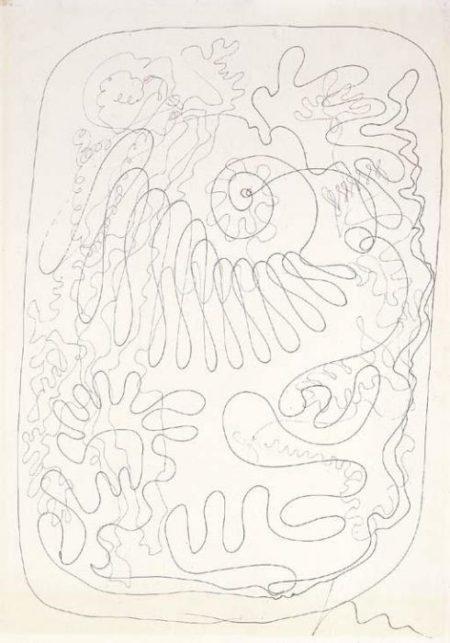 Lucio Fontana-Studio per illustrazione Six contes de La Fontaine-1964