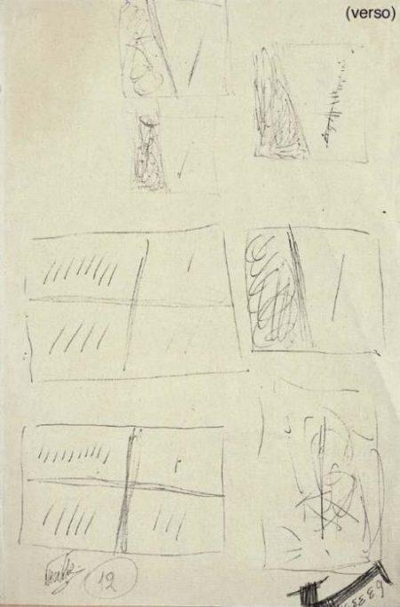 Lucio Fontana-Primo progetto di taglio di Lucio Fontana-1953
