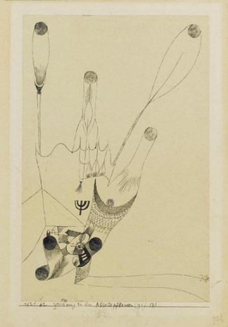 Paul Klee-Zeichnung Zu Den Abseitspflanzen-1921