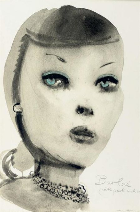 Marlene Dumas-Barbie (with Pearl Necklace)-1997