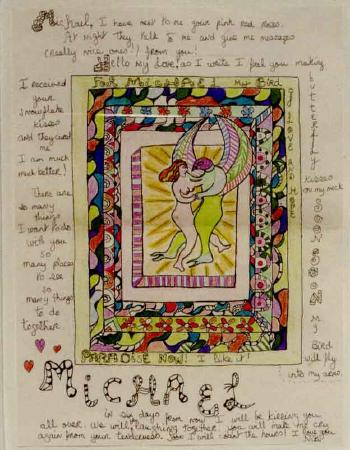 Niki de Saint Phalle-Paradise Now, an illuminated Letter from Niki to Michael-