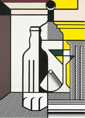 Roy Lichtenstein-Purist Painting with Bottles-1975