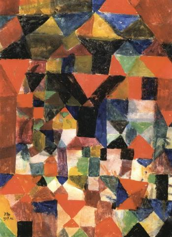 Paul Klee-Stadtartiger Aufbau-1917