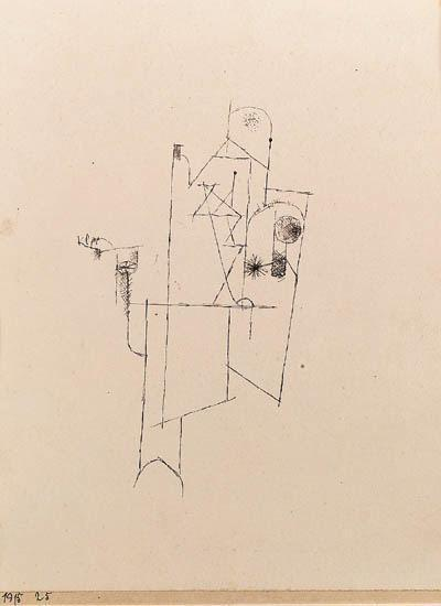 Paul Klee-Gebaude Des Friedens (Symbol)-1915