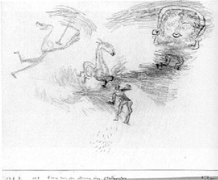 Paul Klee-Szene Aus Dem Drama Eines Stallmeisters-1923