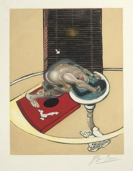 Francis Bacon-Figure at a Washbasin-1976