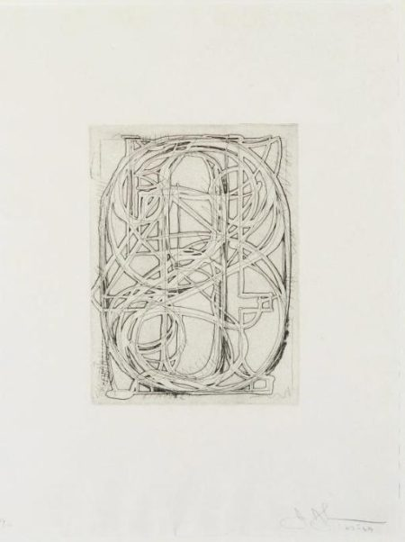Jasper Johns-Numbers, from 1st Etchings, 2nd State (Field 83; cf. U.L.A.E. 58)-1969