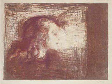 Edvard Munch-Das kranke Kind I / Das kranke Madchen / Det Syke Barn I (W. 72; Sch. 59)-1896