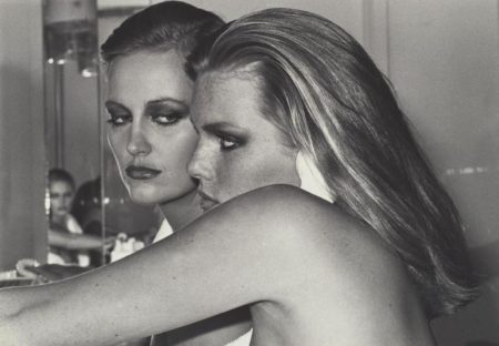 Helmut Newton-Patti Hansen And Winnie Hollman For Xavier Coiffures-1976