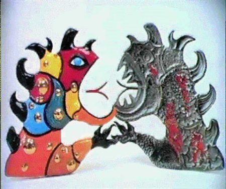 Niki de Saint Phalle-Le dragon positif et negatif-1988
