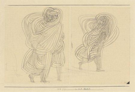 Paul Klee-Im Wind Schreitende (Woman walking in the wind)-1926