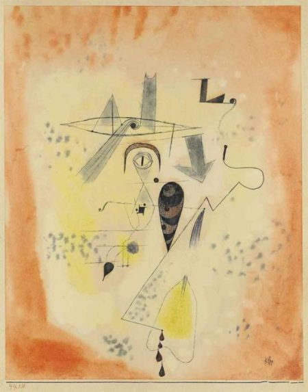 Paul Klee-Angler Erinnerung aus L. (Angler Memory of L.)-1919