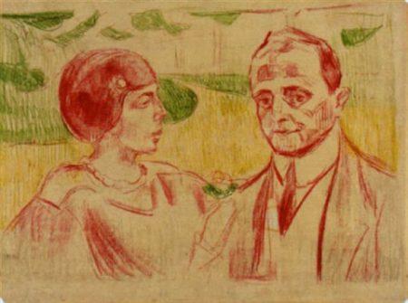 Edvard Munch-Elsa und Curt Glaser-1913