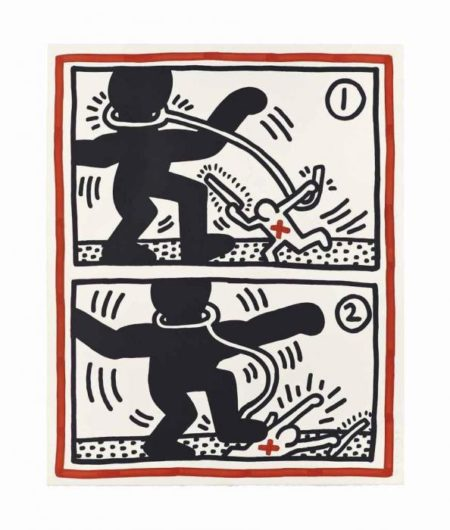 Keith Haring-Keith Haring - Free South Africa: One Plate-1985