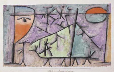 Paul Klee-Sonnen Untergang-1937