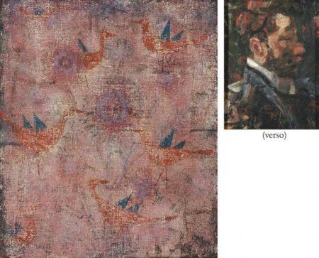 Paul Klee-Blaugeflugelte Vogel/ Portrait eines Mannes-1925