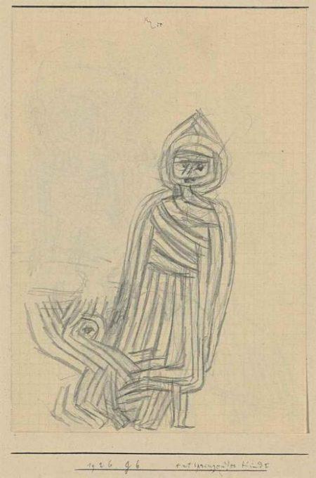 Paul Klee-Entspringendes Kind I (Child Running Away I)-1926