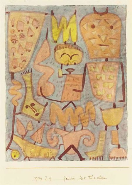 Paul Klee-Geister Des Theaters (Spirits Of The Theatre)-1939