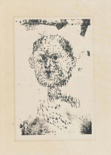Paul Klee-Kopf - Bartiger Mann-1925