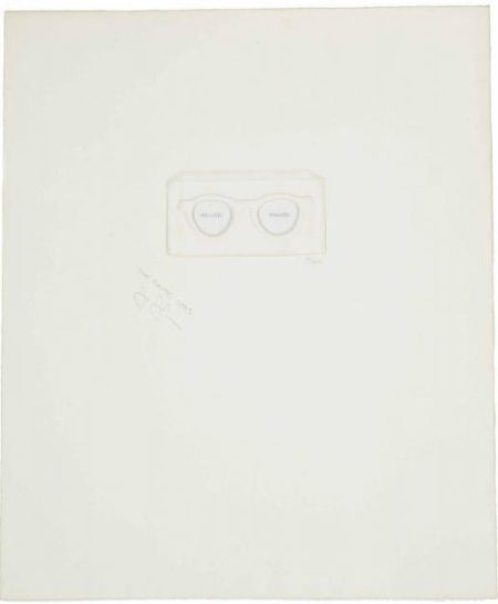 Jasper Johns-The Critic Sees, from: Ten from Leo Castelli (Universal Limited Art Editions 25)-1967