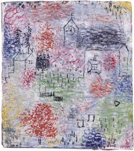 Paul Klee-Kleine Landschaft Mit Der Dorfkirche (Landscape With Village Church)-1925