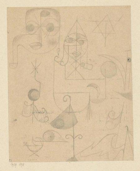 Paul Klee-Gestirne und Sternbilder (Stars and Constellations)-1919