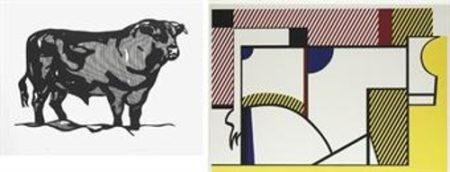 Roy Lichtenstein-Bull I; Bull IV (from Bull Profile Series)-1973