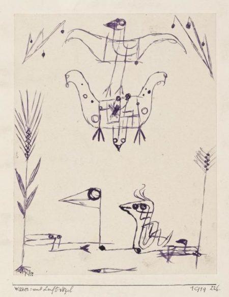 Paul Klee-Wasser = Und Luft-Vogel-1919