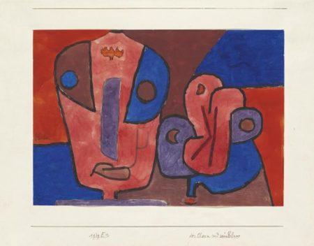 Paul Klee-Der Clown Und Seine Blume-1939
