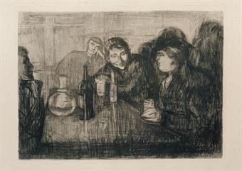 Edvard Munch-Christiana - Boheme I / Kristiana - Boheme I-1895
