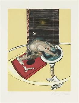 Francis Bacon-Figure at a Washbasin (from Requiem pour la Find des Temps)-1976
