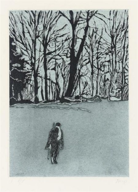 Peter Doig-White Out from Ten Etchings (Paragon Press catalogue vol. II, p. 46-59)-1996