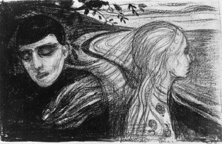 Edvard Munch-Loslosung II / Separation II / Losrivelse II (Schiefler 68, Woll 78)-1896