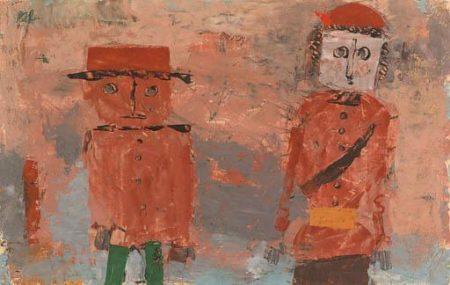 Paul Klee-Braut Und Brautigam In Herbs Des Lebens-1930