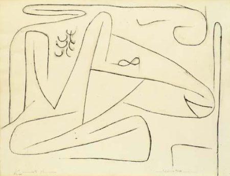 Paul Klee-Kopf Eines Tieres-1937
