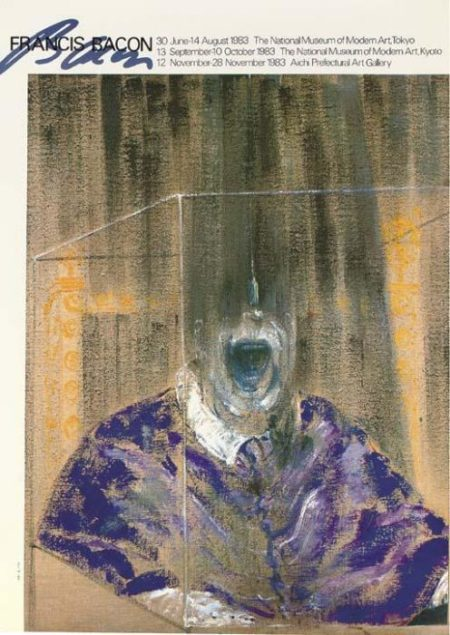 Francis Bacon-A Collection of Exhibition Posters (Grand Palais, Paris, 1972, School of London, Louisiana, 1987, National Museum of Modern Art, Tokyo, 1983, Galerie Claude Bernard, Paris, 1977, National Museum of Tokyo, 1983, Centre Georges Pompidou, Paris, Stadtische Kunsthalle Dusseldorf, 1972)-1987