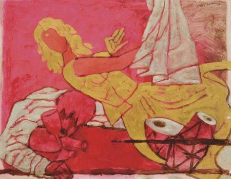 Maqbool Fida Husain-Untitled (Devdas Series)-2002