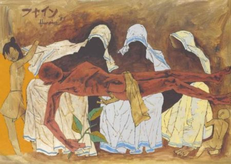 Maqbool Fida Husain-Untitled (Pieta)-1989