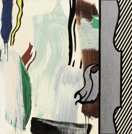 Roy Lichtenstein-Painting: Silver Frame-1983