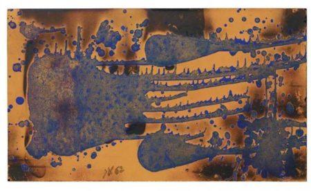 Yves Klein-Peinture de feu couleur (FC 15)-1962