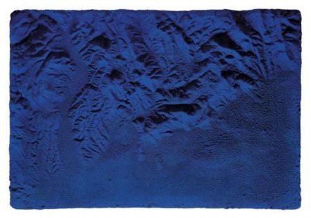 Yves Klein-Relief planetaire bleu, (RP 17)-1961