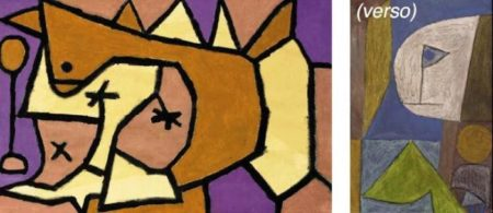 Paul Klee-Berg Wild/Ohne Titel (Wild Mountain / Untitled)-1940