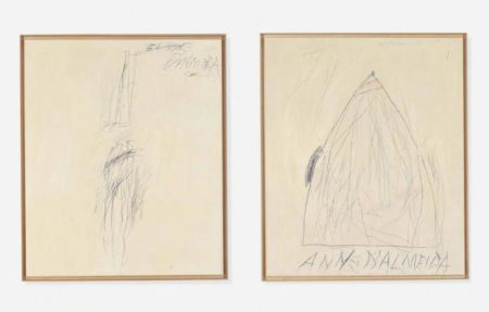 Cy Twombly-(I) Portrait of George D'Almeida (ii) Portrait of Anne D'Alm-1967