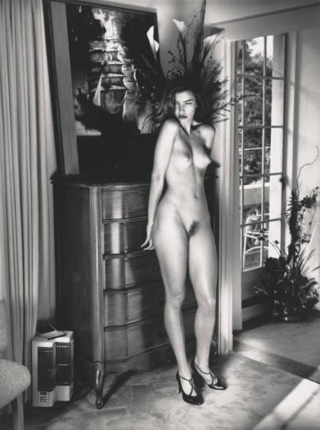 Helmut Newton-Domestic Nude V, In My Living Room, Chateau Marmont, Hollywood (1993)-1993