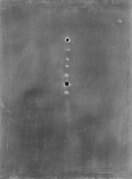 Lucio Fontana-Matrice di incisione-1966