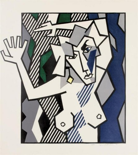 Roy Lichtenstein-Nude in the Woods, from Expressionist Woodcut Series-1980