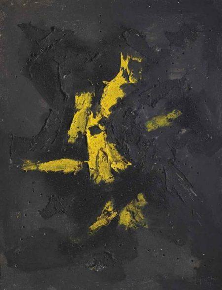 Lucio Fontana-Concetto spaziale-1957