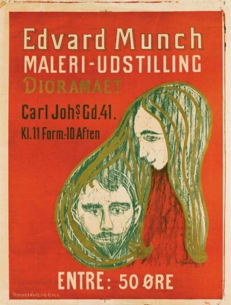Edvard Munch-Man's Head in Woman's Hair (Woll 107)-1897