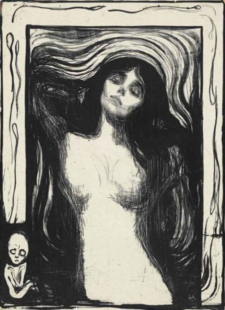 Edvard Munch-Madonna / Liebendes Weib / Loving woman / Woman making love (W. 39; Sch. 33)-1902