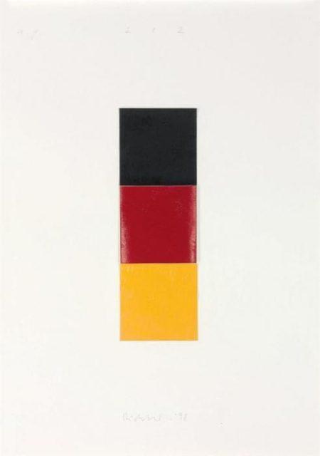 Gerhard Richter-Schwarz, Rot, Gold I (Black, Red, Gold I)-1998